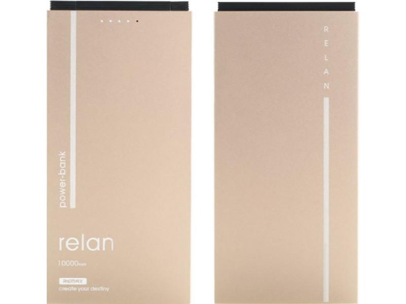 Powerbank аккумулятор Remax Power Bank Relan RPP-65 10000 mah Gold