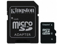 Карта памяти Kingston 8 GB microSDHC class 4 + SD adapter SDC4/8GB