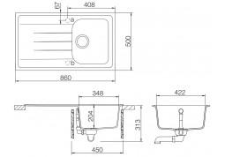 Кухонная мойка Schock Viola D-100 дешево