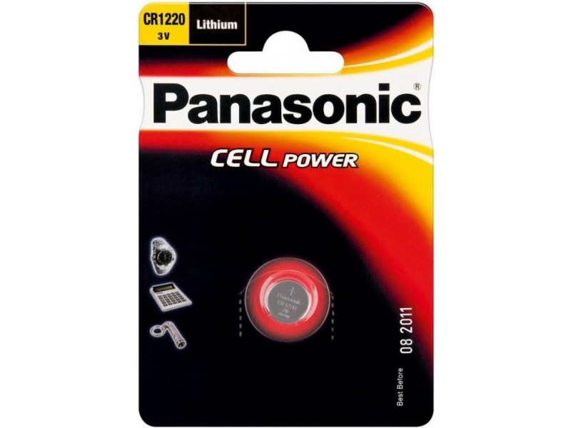 Аккумуляторная батарейка Panasonic CR-1220 bat(3B) Lithium 1шт (CR-1220EL/1B)