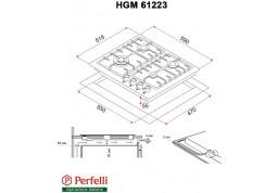 Варочная поверхность Perfelli HGM 61223 I недорого