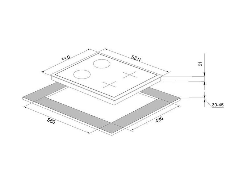 Варочная поверхность Perfelli HKM 627 W отзывы