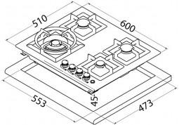 Варочная поверхность Perfelli design HGM 6440 Inox Slim Line в интернет-магазине