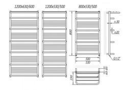 Полотенцесушитель MARIO Premium Luxor 600x1200 стоимость