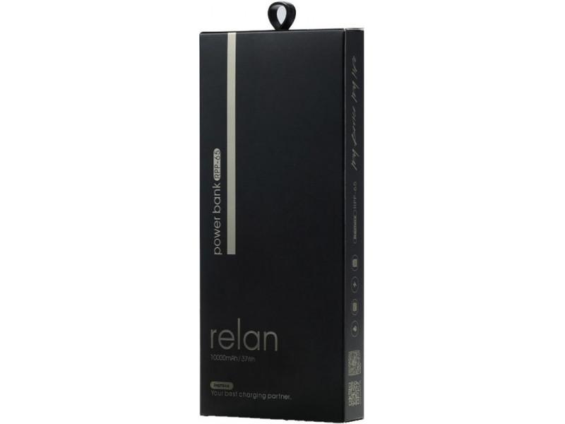 Powerbank аккумулятор Remax Relan 10000 (серый) недорого