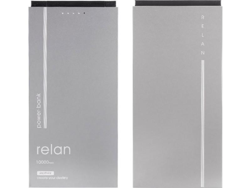 Powerbank аккумулятор Remax Relan 10000 (серый) цена
