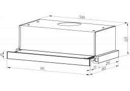Вытяжка Interline SLIM X/S A/60/2/T стоимость