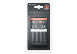 Зарядное устройство Panasonic Smart-Quick Charger+Eneloop Pro 4AA 2500 mAh NI-MH (K-KJ55HCD40E) - Интернет-магазин Denika