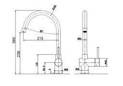 Смеситель Fabiano FKM 39 S/Steel Inox дешево
