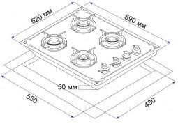 Варочная поверхность Minola MGG 61164 BL недорого