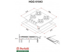 Варочная поверхность Perfelli HGG 61043 BL цена
