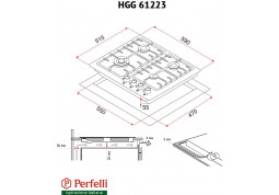 Варочная поверхность Perfelli HGG 61223 IV описание