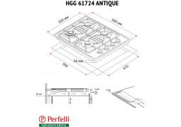 Варочная поверхность Perfelli HGG 61724 BL цена