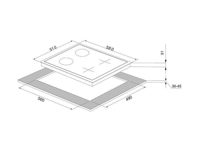 Варочная поверхность Perfelli HKM 629 (белый) дешево