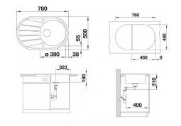 Кухонная мойка Blanco Tamos 45S (519468) недорого