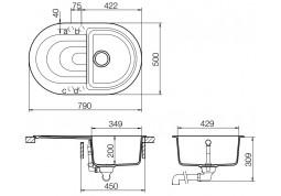 Кухонная мойка Schock Ronda D-100S (черный) фото
