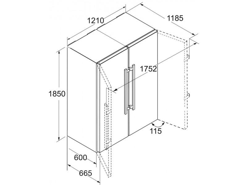 Холодильник Liebherr SBSbs 8673 дешево