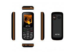Мобильный телефон Astro A173 Black/Orange - Интернет-магазин Denika