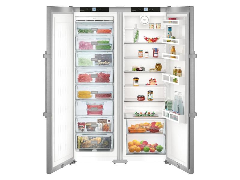 Холодильник Liebherr SBSef 7242 серебристый фото