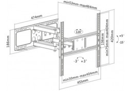 Настенное крепление Brateck LPA52-446 цена