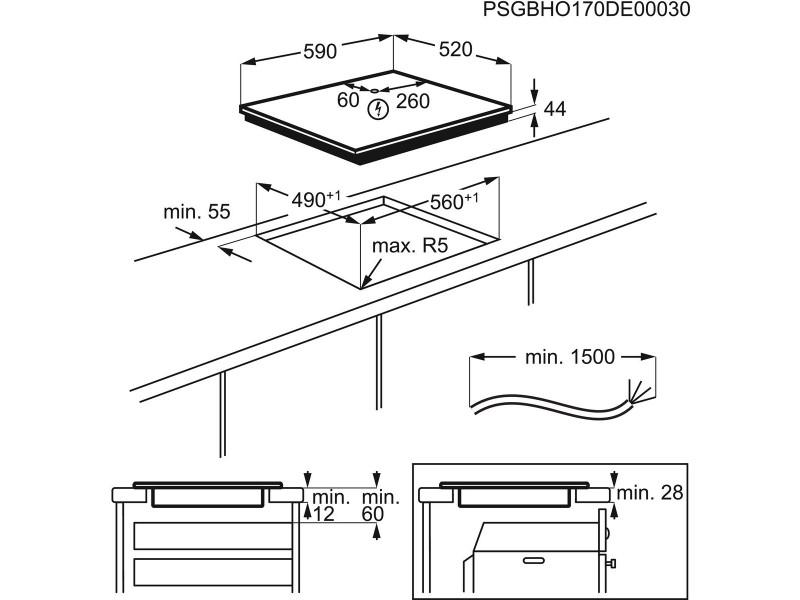 Варочная поверхность Electrolux IPE 6450KF описание