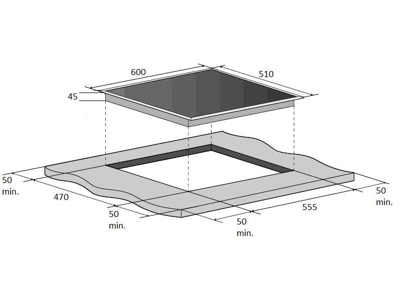 Варочная поверхность Fabiano FHG 14-44 GH-T Black Glass стоимость
