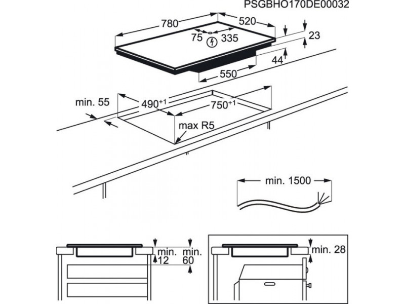 Варочная поверхность AEG IKE 85441 FB описание
