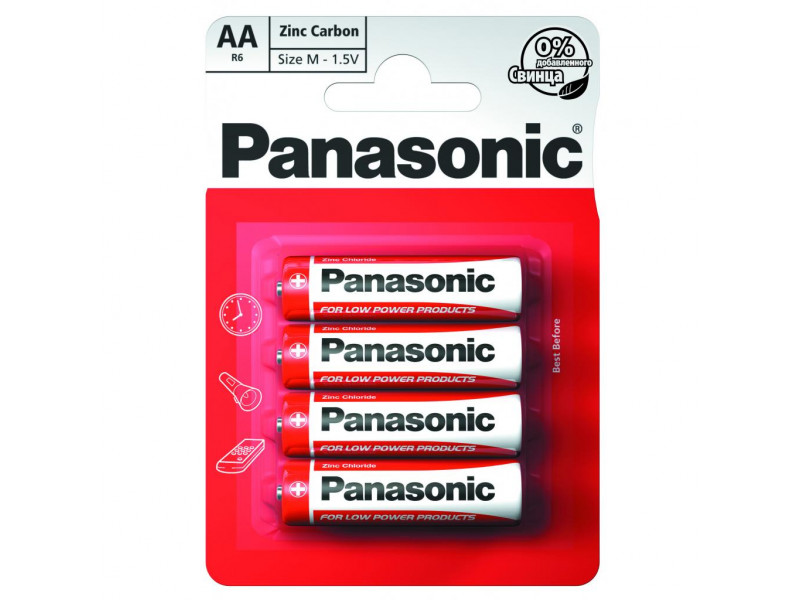 Батарейка Panasonic AA bat Carbon-Zinc 4шт Special (R6REL/4BP)