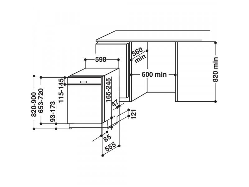 Посудомоечная машина Whirlpool WBC 3C26 B отзывы