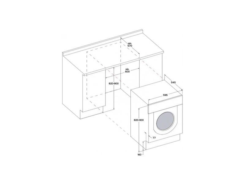 Встраиваемая стиральная машина Whirlpool BI WDWG 75148 EU стоимость