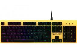 Клавиатура Hator Rockfall Mechanical Blue Switches Yellow Edition RU (HTK-601)
