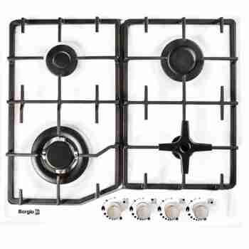 Варочная поверхность Borgio 6742-17 (White Enamelled)