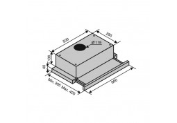 Вытяжка VENTOLUX GARDA 60 BK (700) SLIM в интернет-магазине