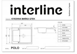 Кухонная мойка Interline POLO GRIGIO недорого