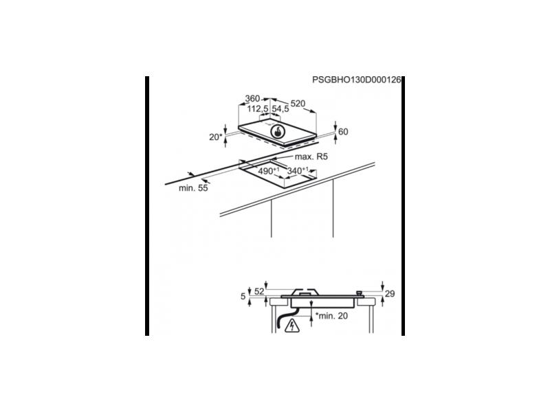 Варочная поверхность газовая AEG HC4120001GB описание