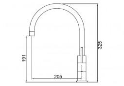 Кухонный смеситель Fabiano FKM 50 S/Steel Inox описание
