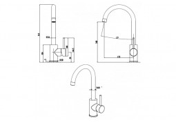 Кухонный смеситель Fabiano FKM 41 S/Steel Alpine White описание