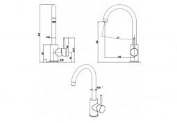 Кухонный смеситель Fabiano FKM 41 S/Steel Antracit описание