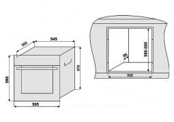 Встраиваемый духовой шкаф Fabiano FBO-R 41 Antracit дешево