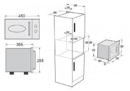 Микроволновая печь Fabiano FBMR 46 Burgundy цена