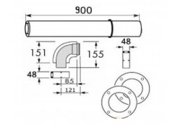 Коаксиальный комплект Vaillant Комплект горизонтального прохода 60/100мм стоимость