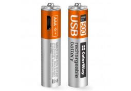 Аккумулятор ColorWay AAА micro USB 400 mAh 1.5В (2pcs.) (CW-UBAAA-01)
