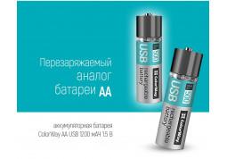 Аккумулятор ColorWay AA USB 1200 mAh 1.5V (2pcs.) (CW-UBAA-02) отзывы
