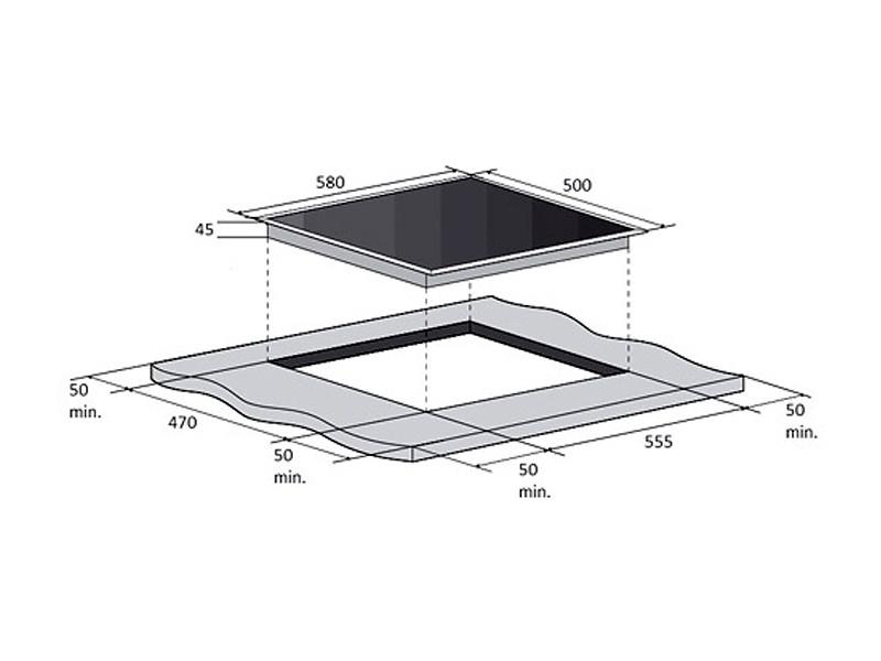 Варочная поверхность Fabiano FHG-R 27-44 VGH-T Antracit дешево