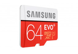 Карта памяти Samsung 64 GB microSDXC Class 10 UHS-I EVO Plus + SD Adapter MB-MC64GA купить