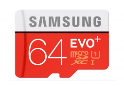 Карта памяти Samsung 64 GB microSDXC Class 10 UHS-I EVO Plus + SD Adapter MB-MC64GA
