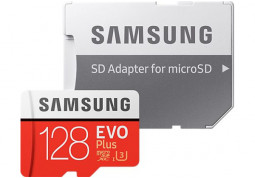 Карта памяти Samsung 128 GB microSDXC UHS-I EVO Plus + SD Adapter MB-MC128GA отзывы