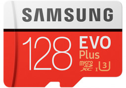 Карта памяти Samsung 128 GB microSDXC UHS-I EVO Plus + SD Adapter MB-MC128GA