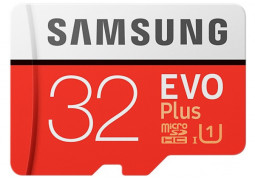 Карта памяти Samsung 32 GB microSDHC Class 10 UHS-I EVO Plus + SD Adapter MB-MC32GA