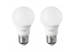Светодиодная лампа  IKEA Ryet LED bulb E27 600 lumen Globe opal white 2 шт (103.632.79)